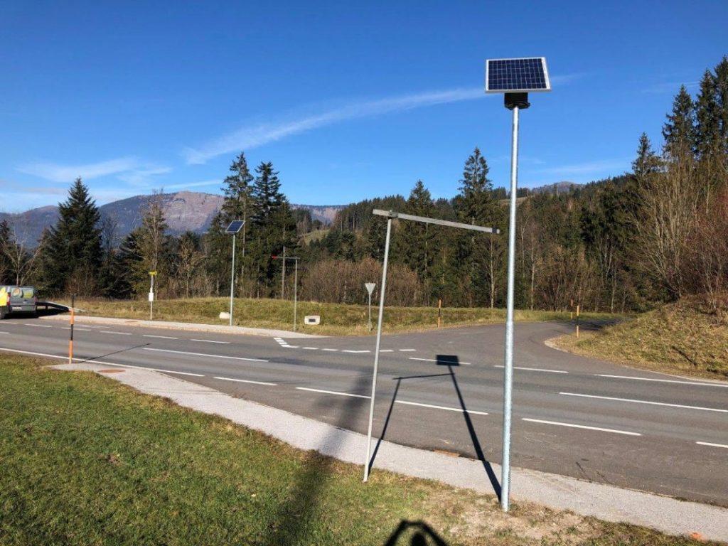 Solar Straßenbeleuchtung vom Hersteller Congaia – Gemeinde Abtenau