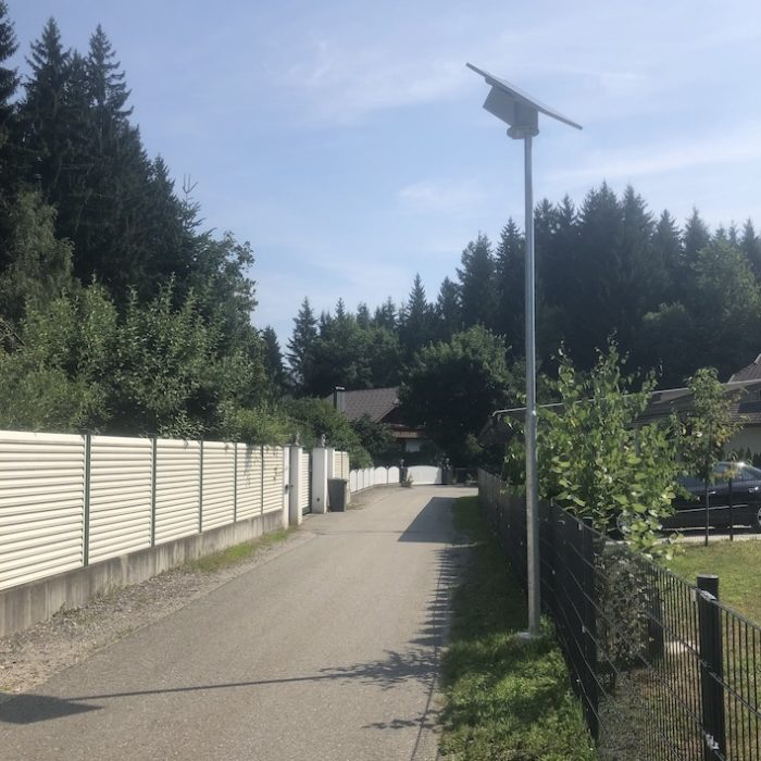 Congaia Solar Straßenlaternen für die Gemeinde Feldkirchen