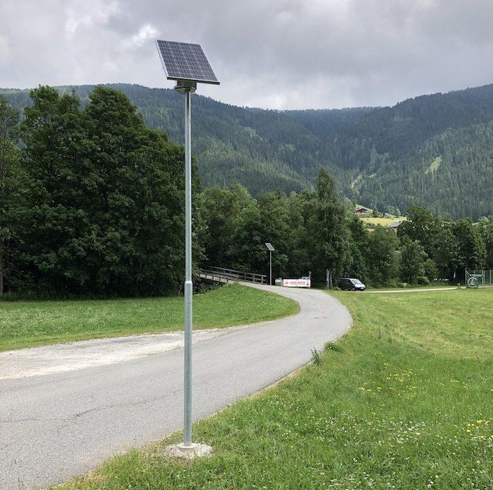 Solar Straßenbeleuchtung Österreich: Solarenergie für die Gemeinde Gnesau