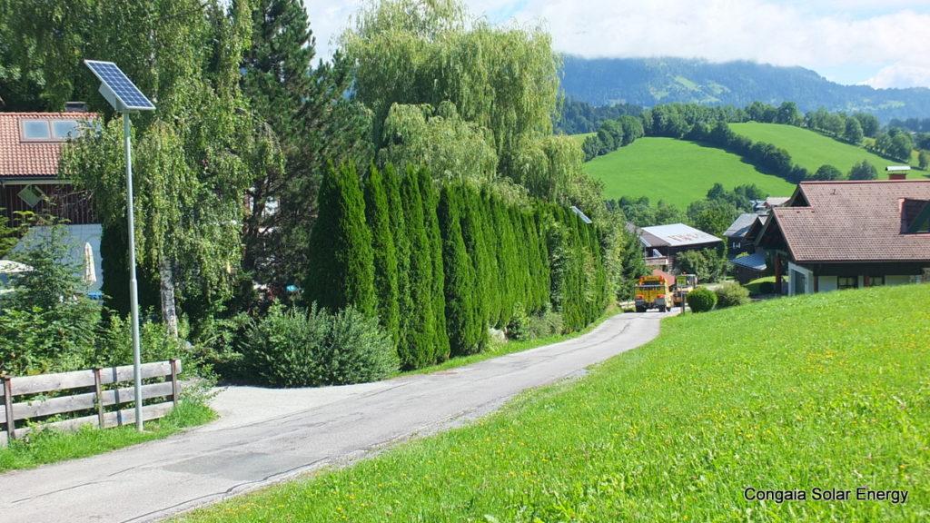 LED Straßenleuchten von Congaia für die Gemeinde Goldegg in Salzburg